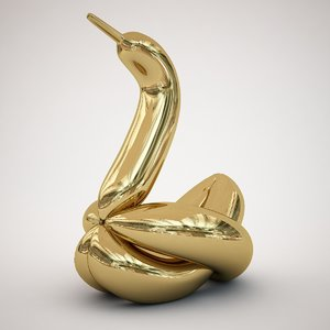 jeff koons balloon swan model