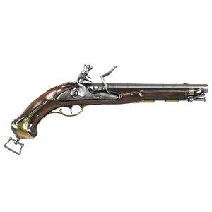 vintage pistol 3D model
