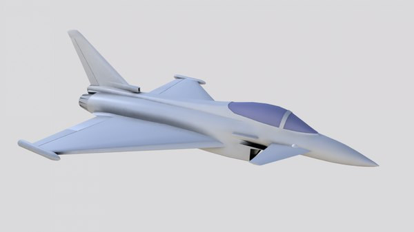eurofighter typhoon jet fighter 3D model