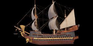 3D old ship model