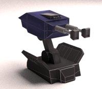 Turret Gun ( Low Poly )