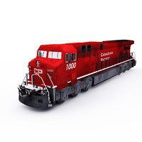 ge locomotive 3D model