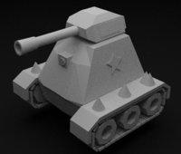 Low Poly Tank Model