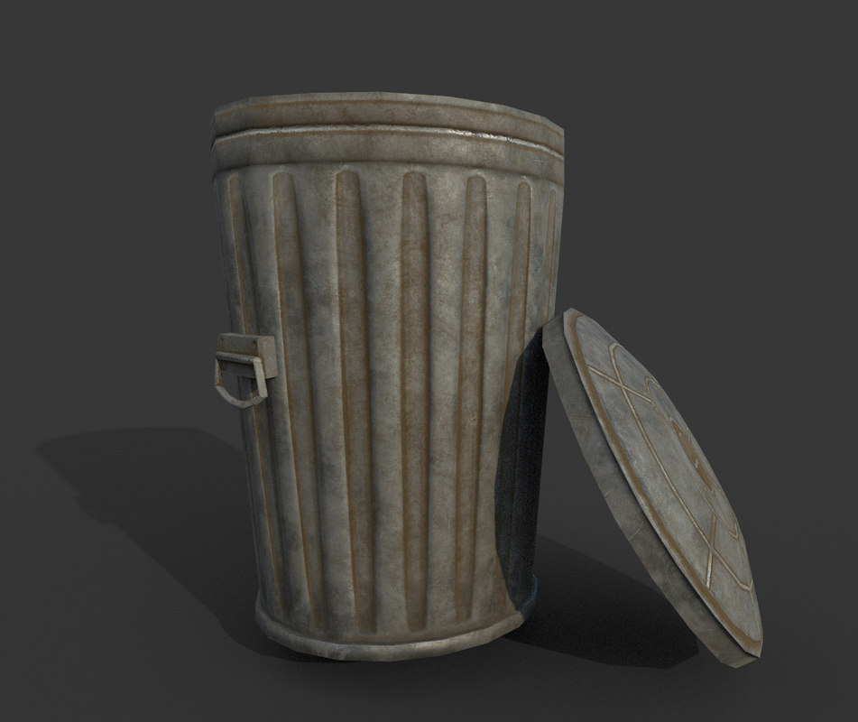 galvanized trash 3D model