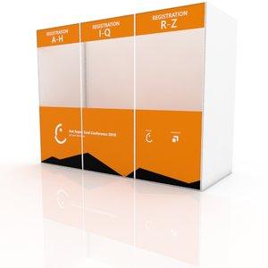 3D registration counter