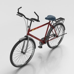 3D bicycle metallic