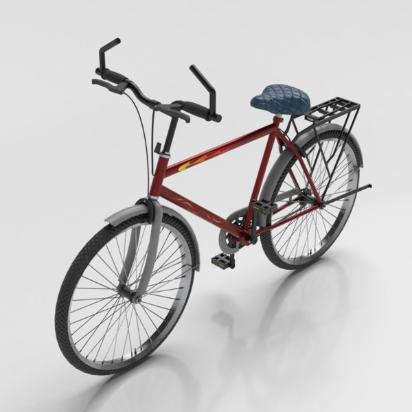 3D bicycle metallic