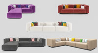 3D soft modular sofa set