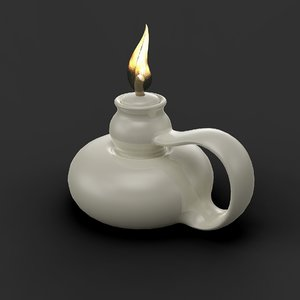 3D oil lamp model