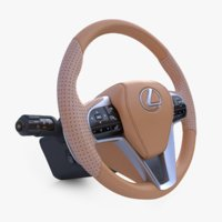 lexus steering wheel 3D model