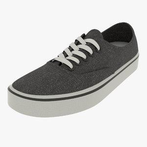 black shoe 3D model