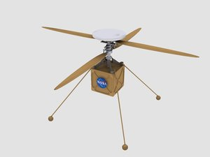 3D model space mars rover