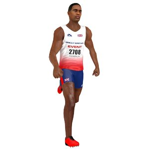 3D rigged sprinter