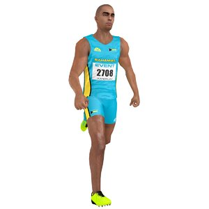 3D rigged sprinter model