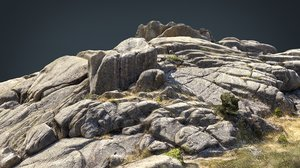 mountain rocks 4 3D model