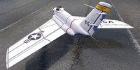 3D model plane northrop x-4 bantam
