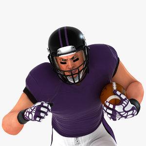 3D football american