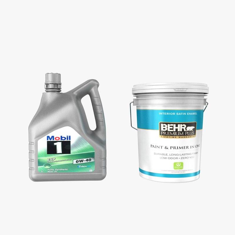 3D oil paint 1 mobil model
