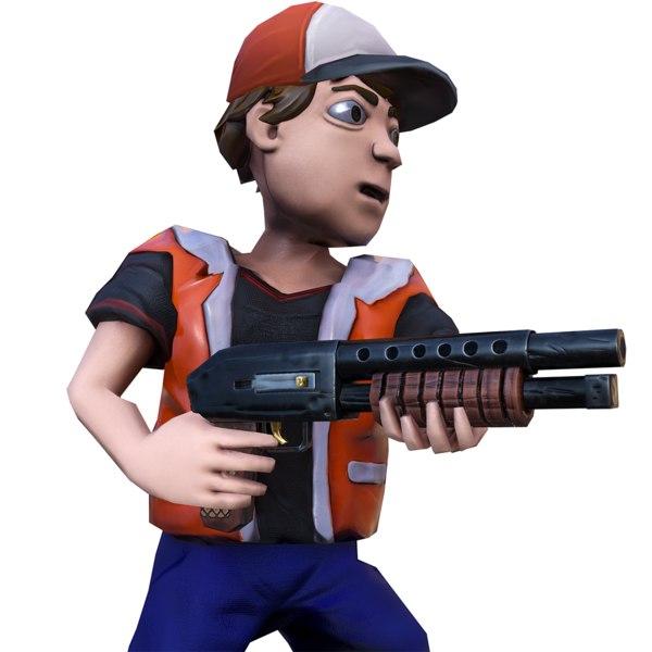 3D rigged boy