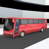 lowpolygon bus 3D model