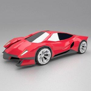 3D futuristic concept model
