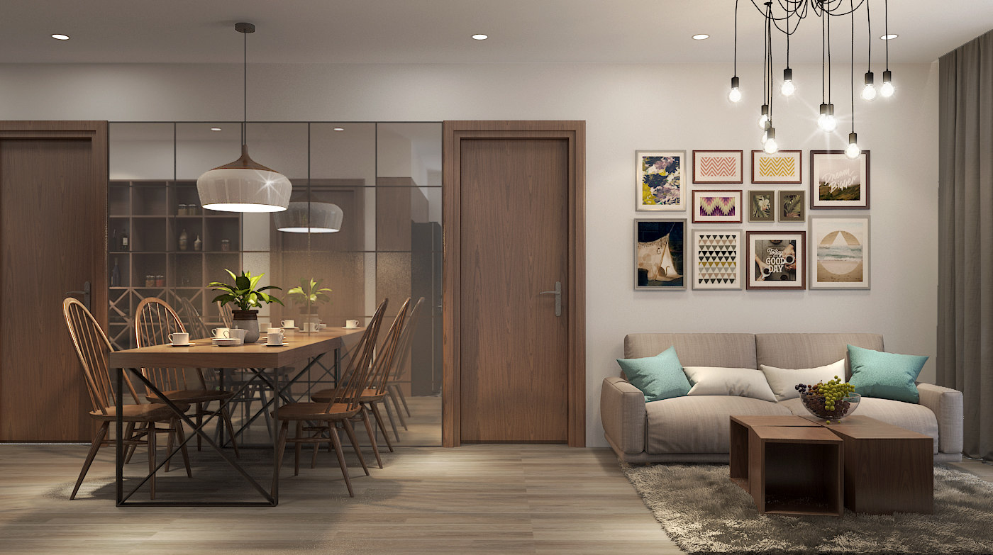 apartment living livingroom 3D model
