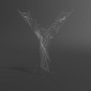 3D web letter y model