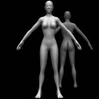 3D model female body base