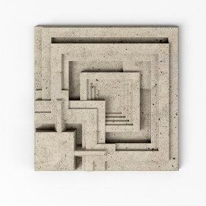 ennis house tiles - 3D model