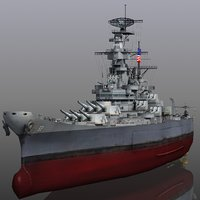 uss new 1942-1945 missouri 3D model