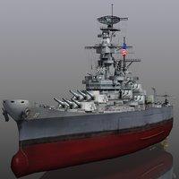 uss new 1942-1945 missouri 3D model