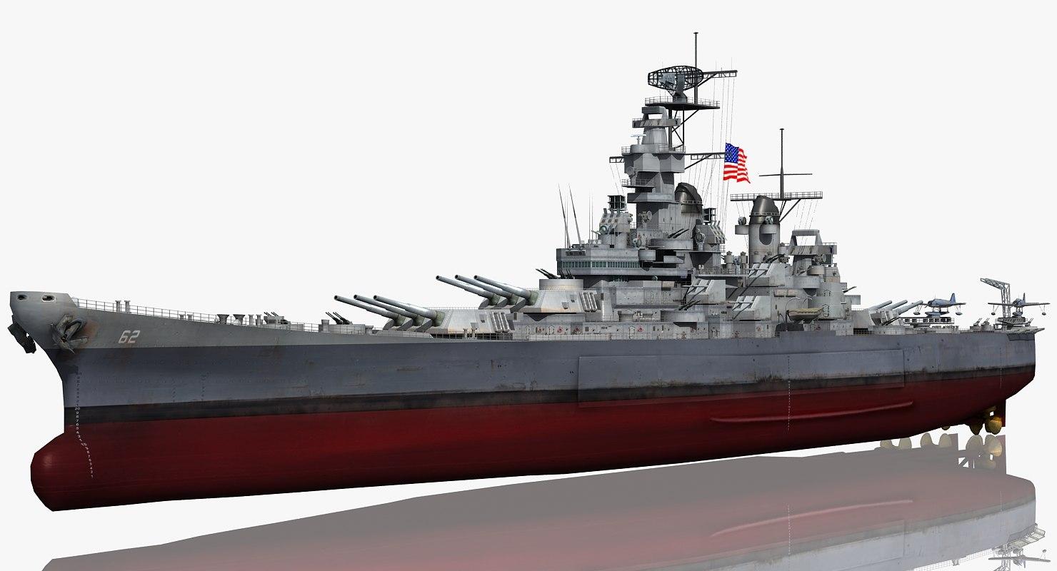 3D uss new 1942-1945 model