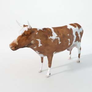 brown cow 3D