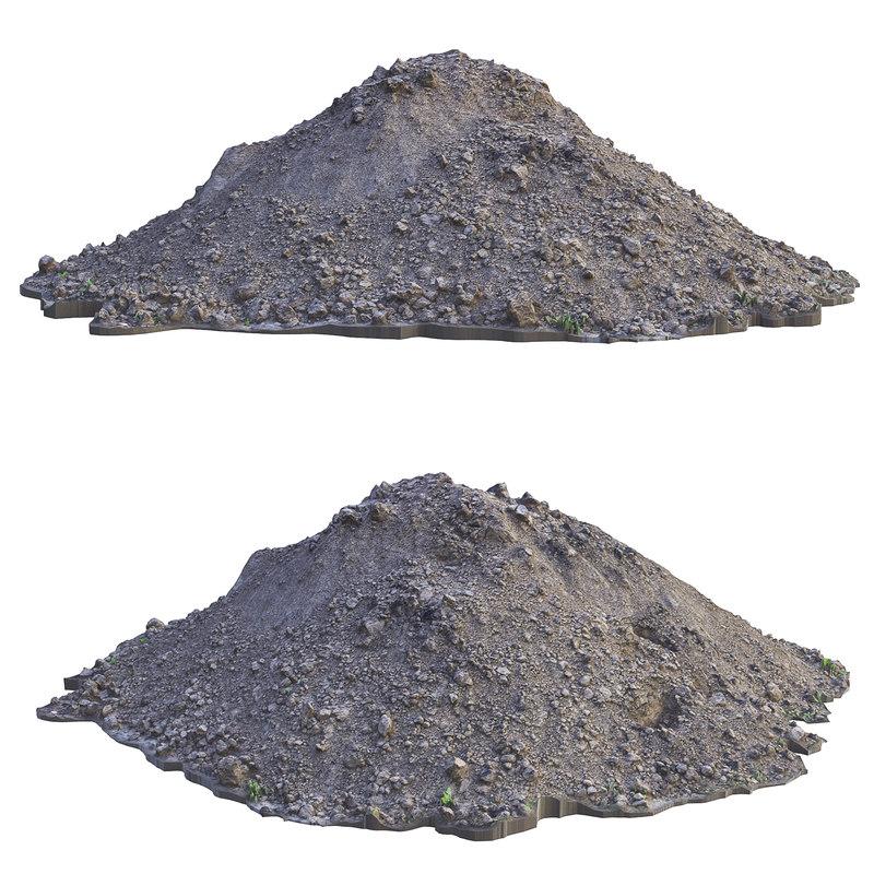 ultra realistic sand scan model
