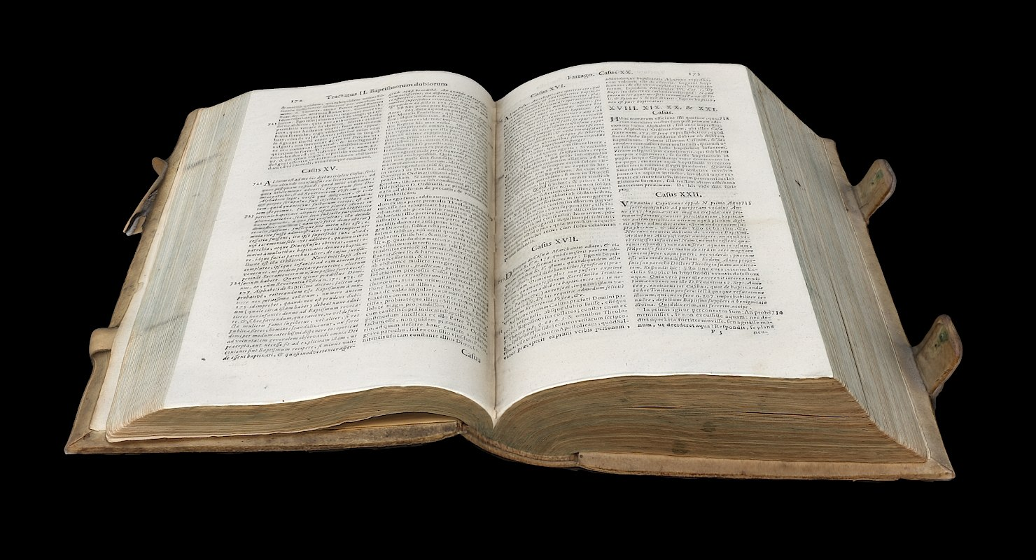 3D old book opened