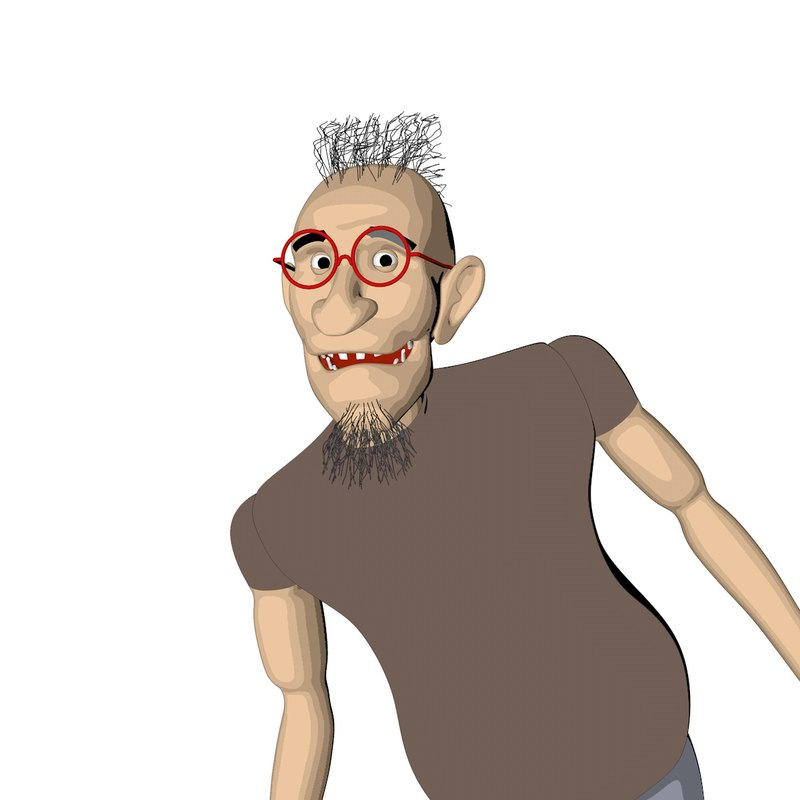 rigged character 3D model