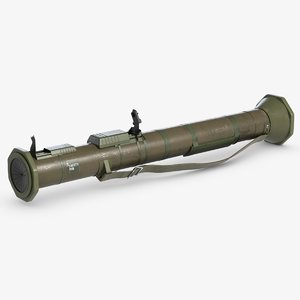 3D antitank grenade launcher model