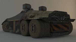 space truck 3D model