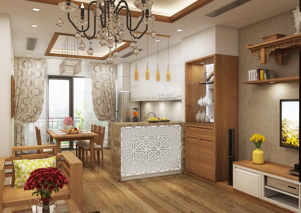 3D apartment-livingroom celling-light