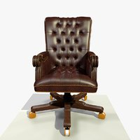 traditional office chair 3D model