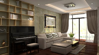 3D apartment-livingroom celling-light