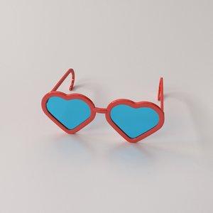 3D model fashion eyeglasses v2