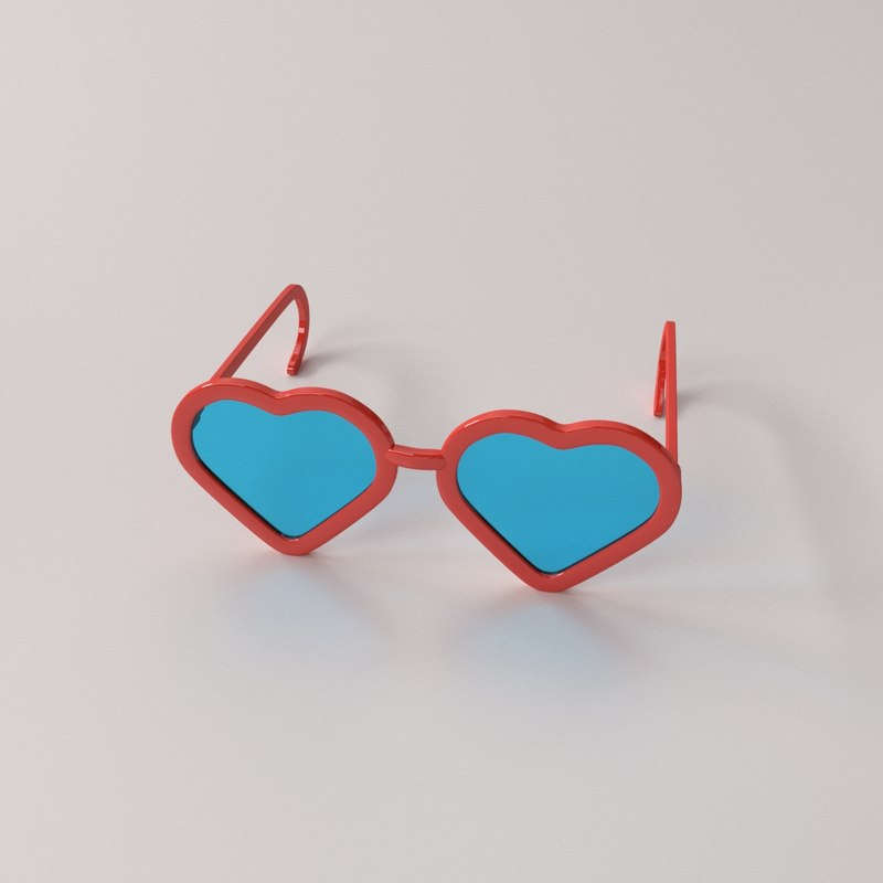 3D model fashion eyeglasses v2