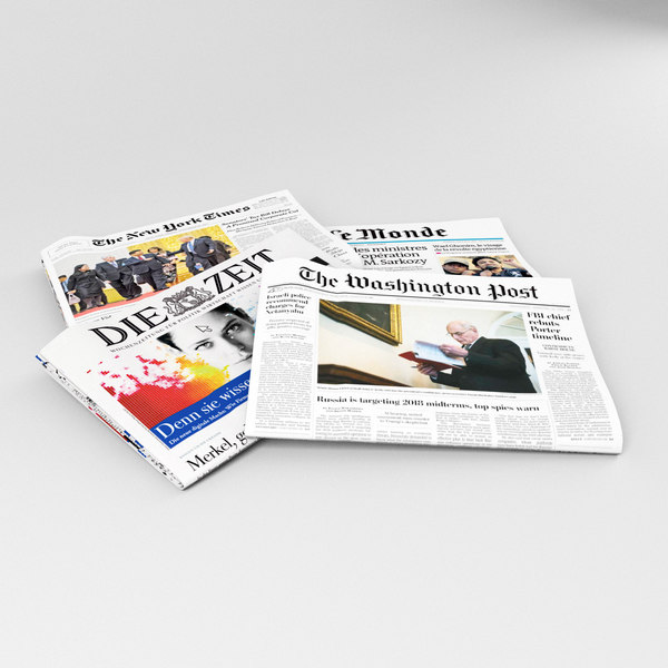 editable newspaper new york model