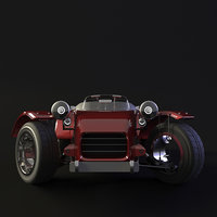 3D car animation model