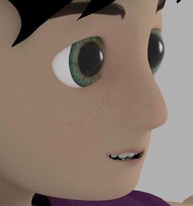 kid cartoonic 3D model