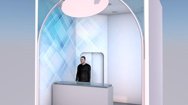 expo square mini stand 3D model