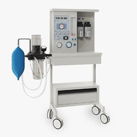 3D model anesthesia machine biomed 200