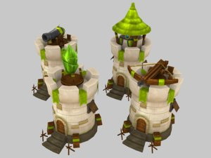 towers medieval model