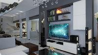 livingroom modern 3D model
